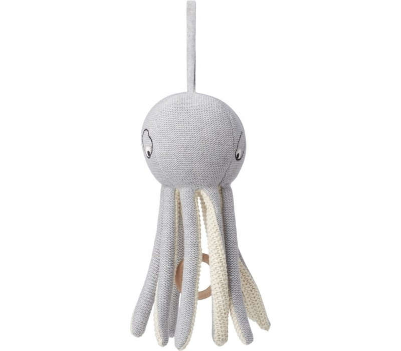 Muziekmobiel Angela Octopus grey melange
