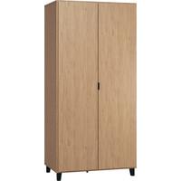 SIMPLE Kleerkast 2-deurs oak/black