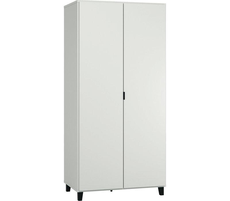 SIMPLE Kleerkast 2-deurs white/black