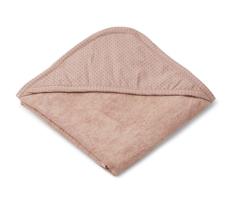 Sheila hooded towel Little dot rose