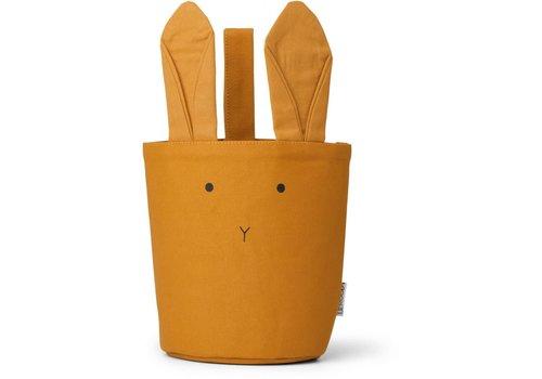 Liewood Textielmandje Ib Rabbit mustard
