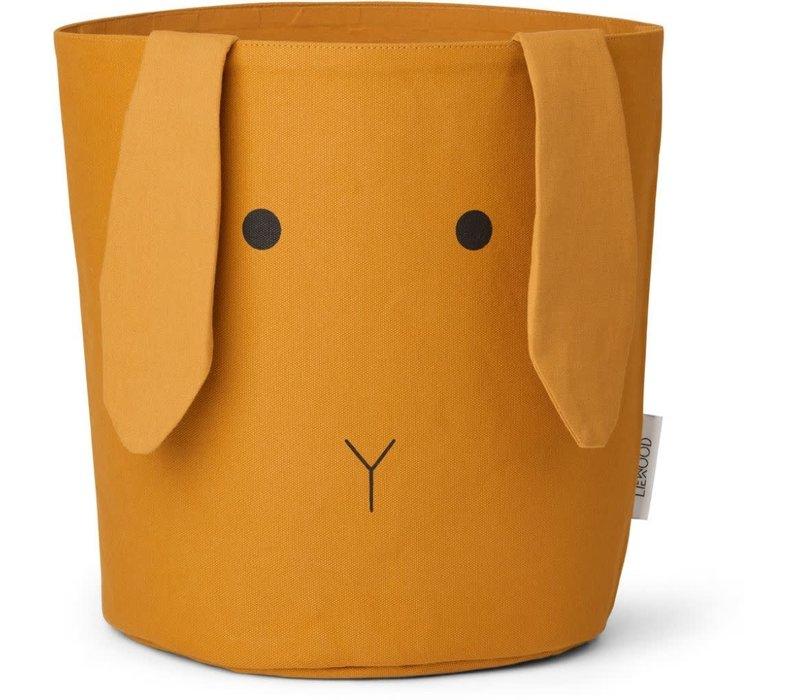 Ella Fabric basket Rabbit mustard
