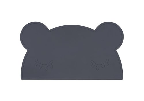 We Might Be Tiny Placemat Bear charcoal