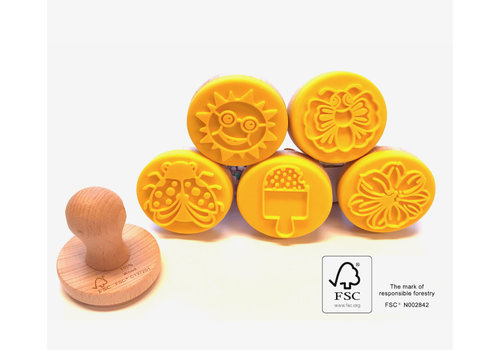 Ailefo Modeling clay stamps 5 pcs