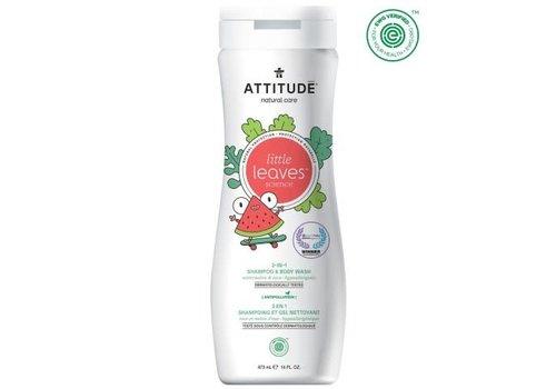 Attitude Little Leaves 2-in-1 Shampoo en body wash watermeloen cocos 475ml