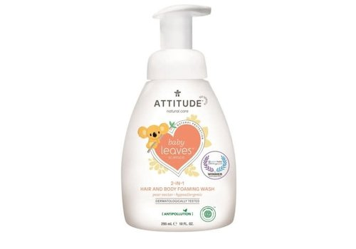 Attitude Baby Leaves 2-in-1 Shampoo en body wash pear nectar 300ml