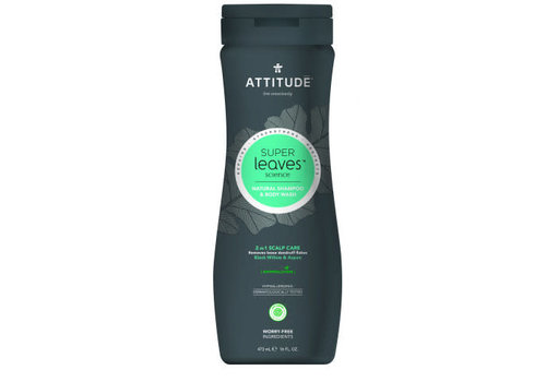 Attitude Super Leaves 2-in-1 Shampoo en body wash Scalp Care MEN 475ml