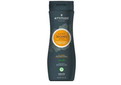 Attitude Super Leaves 2-in-1 Shampoo en body wash Sports MEN 475ml