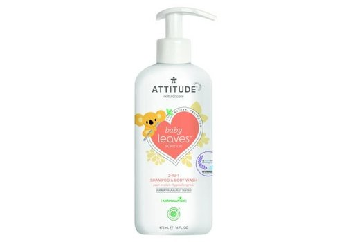 Attitude Baby Leaves 2-in-1 Shampoo en body wash pear nectar 475ml