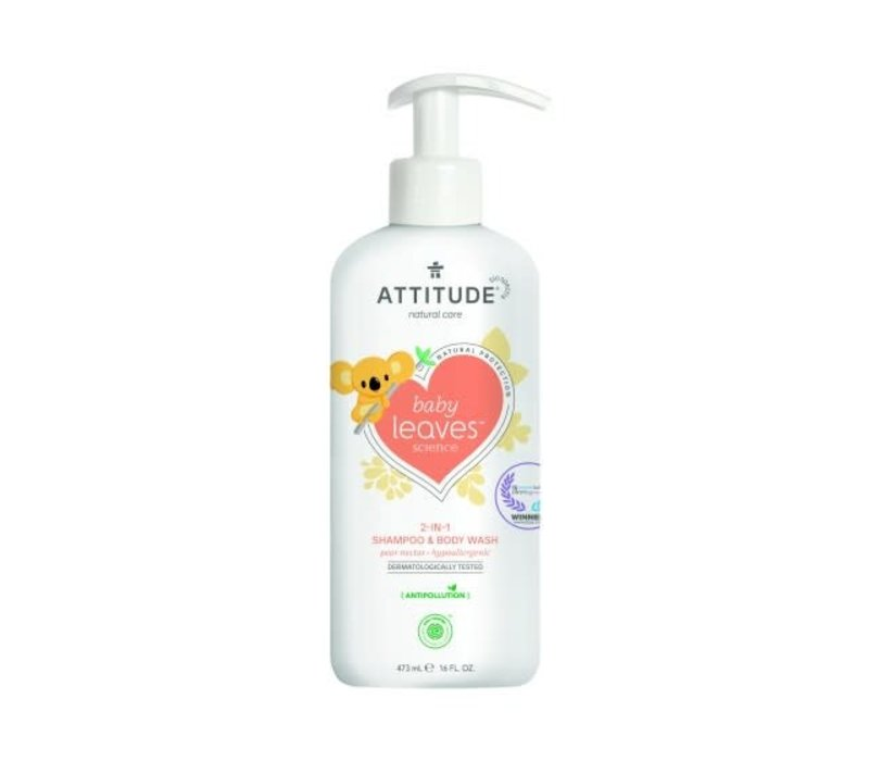 Baby Leaves 2-in-1 Shampoo en body wash pear nectar 475ml