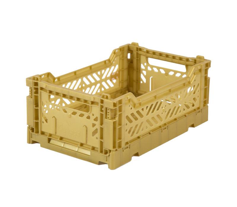 Foldable crate mini gold