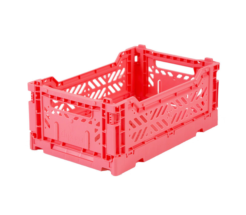 Foldable crate mini dark pink