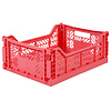 Aykasa Foldable crate midi dark pink