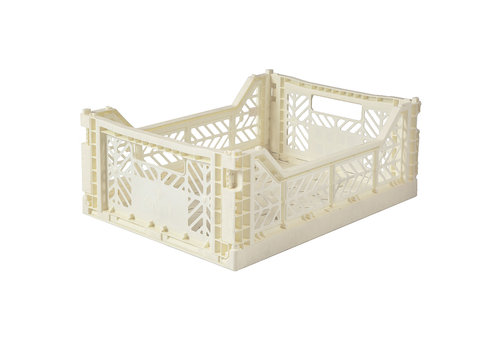 Aykasa Foldable crate midi cream
