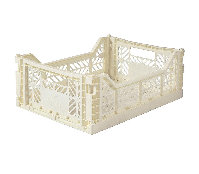 Foldable crate midi cream