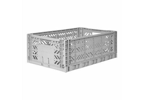 Aykasa Foldable crate maxi grey
