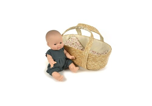 braided doll Basket 35cm