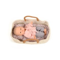 Knitted doll basket 35cm
