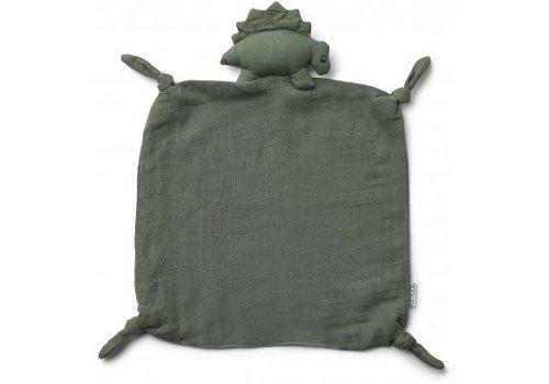 Liewood Agnete cuddle cloth Dino faune green