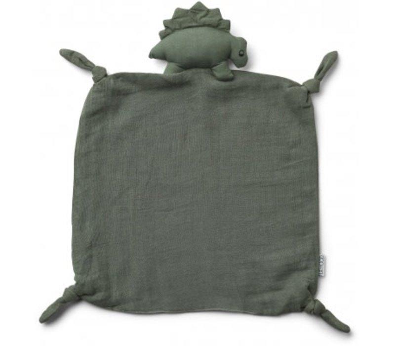 Agnete cuddle cloth Dino faune green