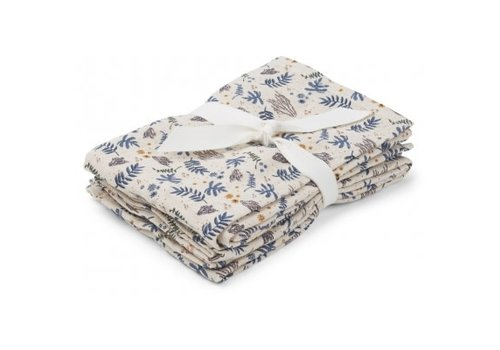 Liewood Hannah swaddle 70x70 cm set 2pcs Coral floral/mix