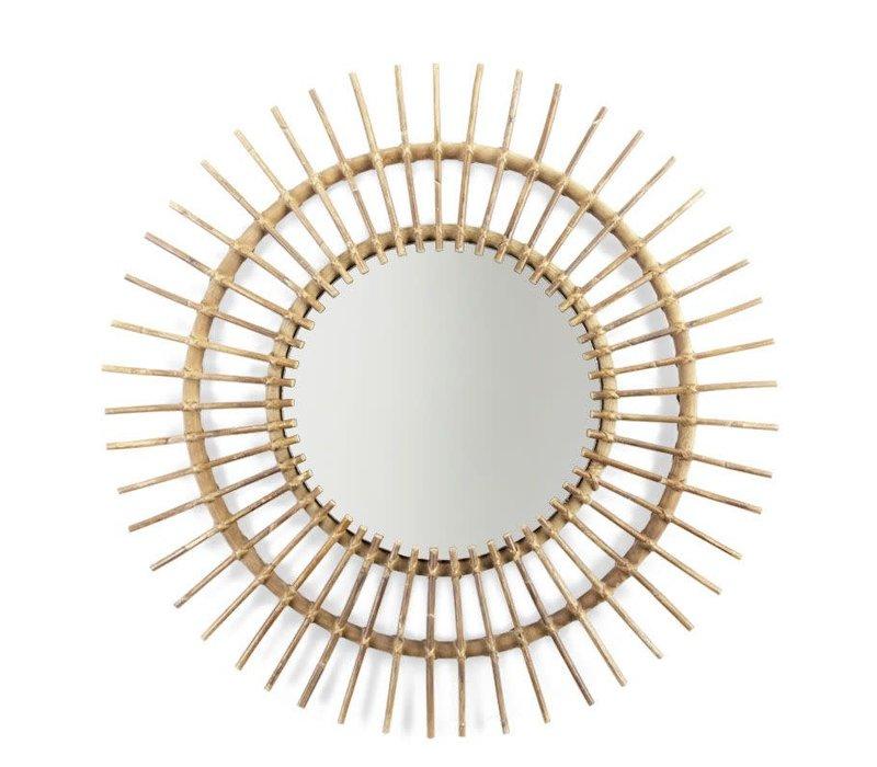 Rotan spiegel Aura Ø90cm
