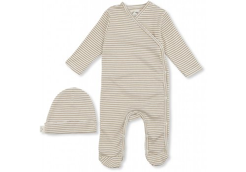 Konges Sløjd Dio newborn set dark honey/ off-white