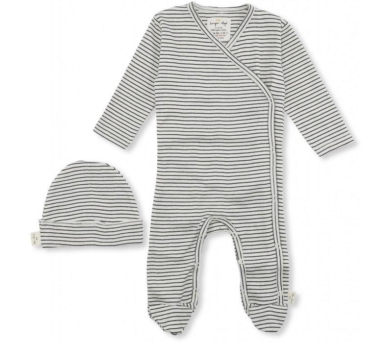 Dio newborn set ebony/ off-white