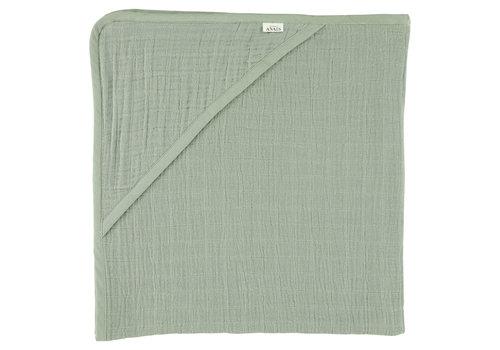 Les Rêves d'Anaïs Hooded towel 75x75cm Bliss olive