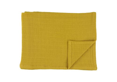 Les Rêves d'Anaïs Muslin cloths 110x110cm Bliss mustard