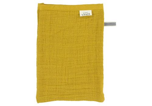 Les Rêves d'Anaïs Muslin washcloths Bliss mustard