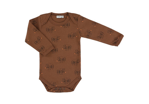 Trixie Baby Body long sleeves Truffle Pig