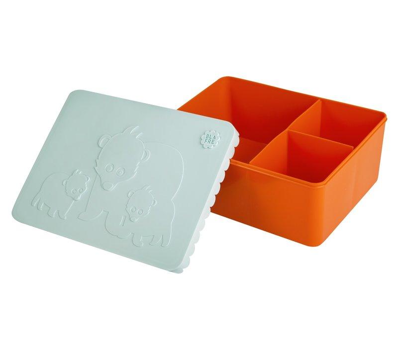 Brooddoos groot orange/light blue