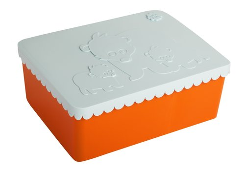 Blafre Brooddoos groot orange/light blue