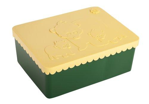 Blafre lunch box dark green/light yellow