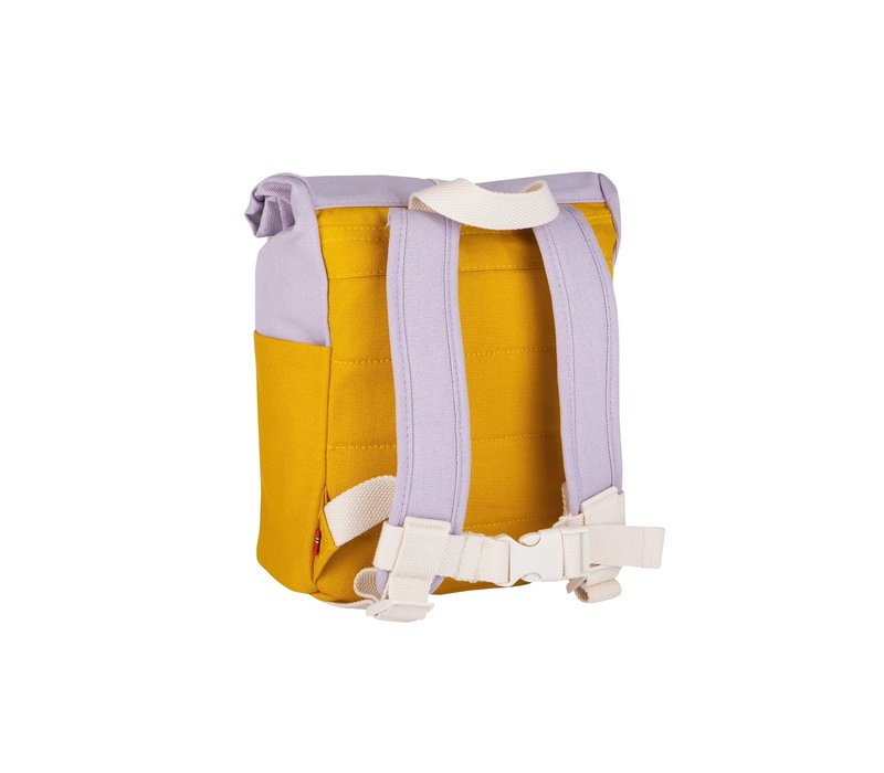 Roll-top backpack 1-4y yellow/light purple
