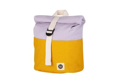 Blafre Roll-top backpack 1-4y yellow/light purple