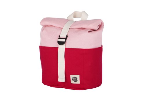 Blafre Roll-top backpack 1-4y red/pink