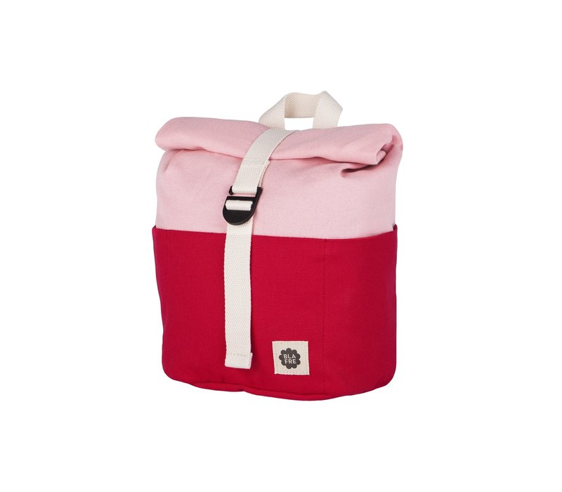 Roll-top rugzak 1-4j red/pink