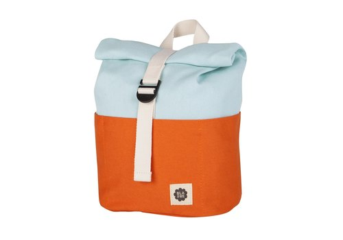 Blafre Roll-top backpack 1-4y orange/light blue