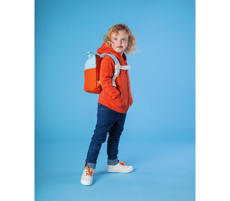 Roll-top backpack 1-4y orange/light blue