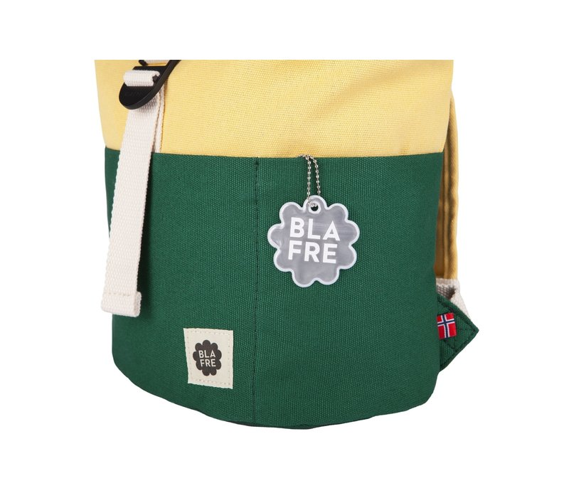 Roll-top backpack 1-4y dark green/light yellow
