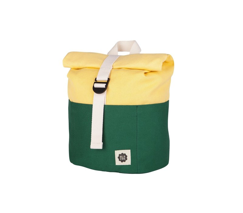 Roll-top rugzak 1-4j dark green/light yellow