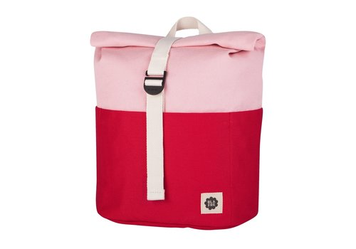 Blafre Roll-top backpack 3-7y red/pink