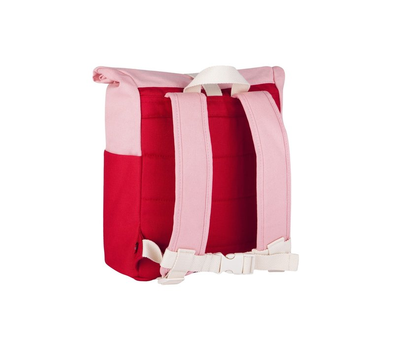 Roll-top backpack 3-7y red/pink