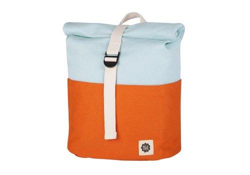 Blafre Roll-top backpack 3-7y orange/light blue