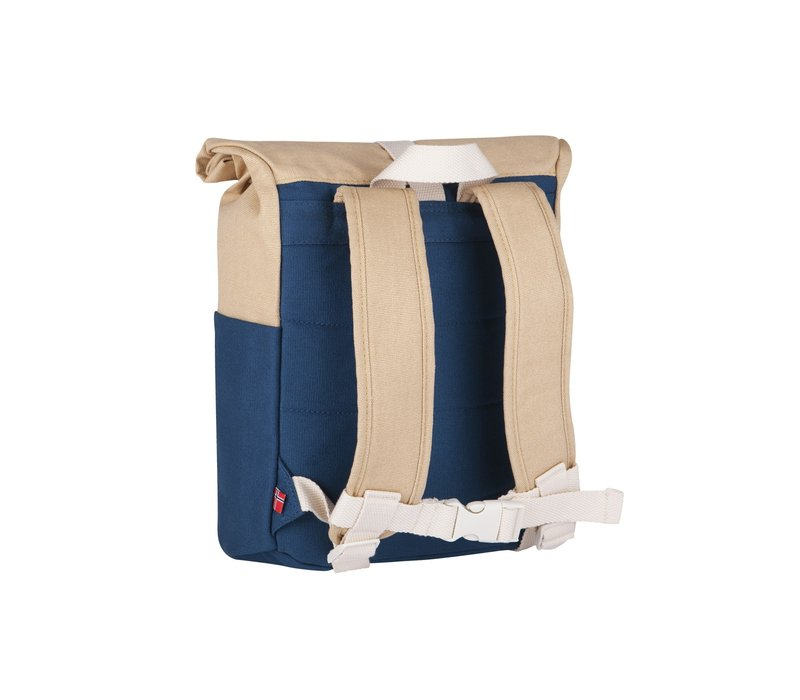 Roll-top rugzak 3-7j navy/beige