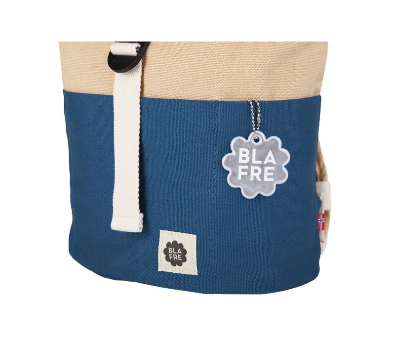 Roll-top backpack 3-7y navy/beige