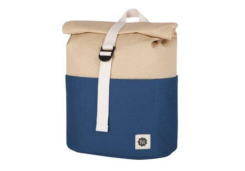 Blafre Roll-top backpack 3-7y navy/beige