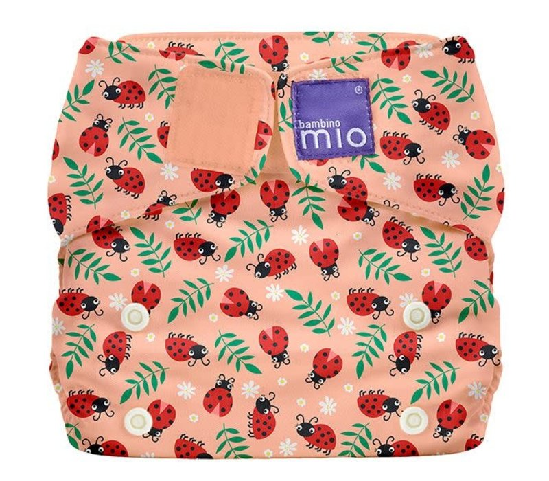 MIOSOLO all-in-one reusable nappy loveable ladybug